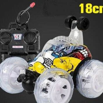 STUNT Car With light Rechargeable electric remote control car rolling flip toy car off-road