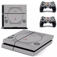 Classic PS One Skin For PS4 System and Controller