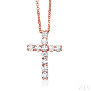 Ziva Rose Gold Cross