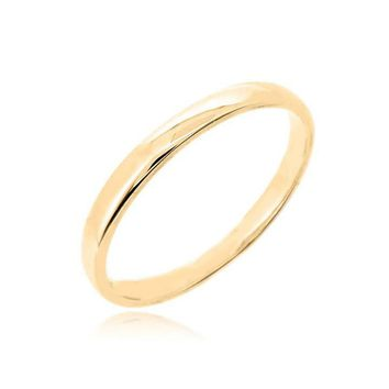 "STACK RING ""SMALL BAND YELLOW GOLD"""