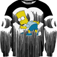 Chanel Graffiti by Bart Simpson Crewneck