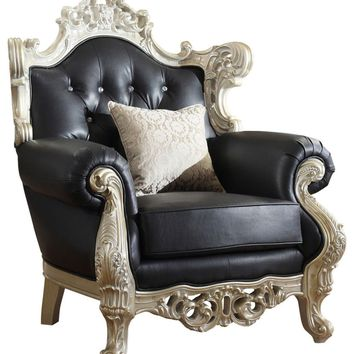 Cesar Black Leather Chair