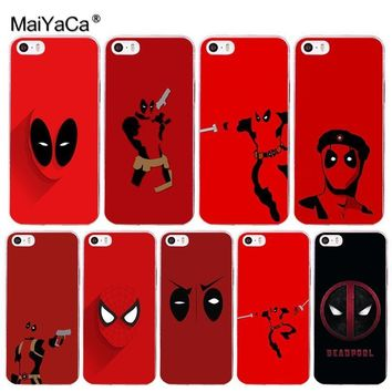 Deadpool Dead pool Taco MaiYaCa  Marvel Wade Winston Wilson Phone Accessories Case for Apple iPhone 8 7 6 6S Plus X 5 5S SE XS XR XS MAX Cover AT_70_6