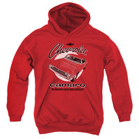 CHEVY/RETRO CAMARO-YOUTH PULL-OVER HOODIE-RED