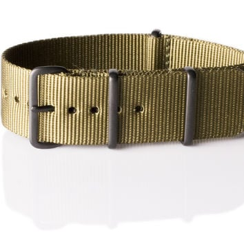 Extra Long PVD NATO Strap Olive Green