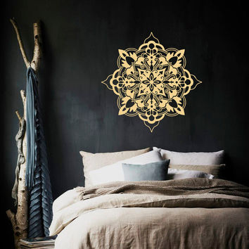 Moroccan Style Mandala Flower Wall Decal