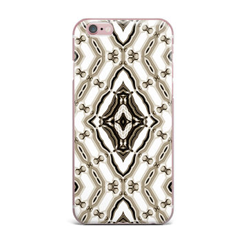 "Dawid Roc ""Inspired By Psychedelic Art 6"" Brown Pattern iPhone Case"