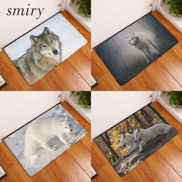Autumn Fall welcome door mat doormat Smiry 40*60cm Nordic Animal Waterproof Decorative Welcome Stair Mats Snow Fox Carpet Anti Slip Living Room Entrance  AT_76_7