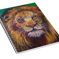 Lion Stare Spiral Notebook for Sale by Kendall Kessler