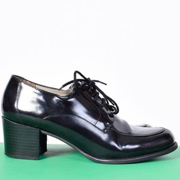 ECH Vintage Black Patent Oxfords