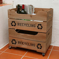 personalised crate with lipped front by plantabox | notonthehighstreet.com