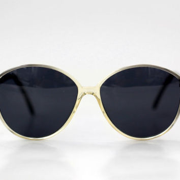 NEW Vintage French Womens Sunglasses // Made in France // Oversized Large Specs - 70s
