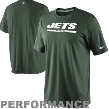 Nike New York Jets Dri-FIT Legend Elite Font Sideline Performance T-Shirt - Green