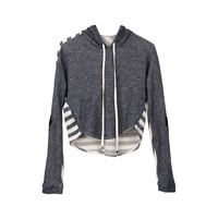 Tractr Cropped Hoodie with Heart Patch