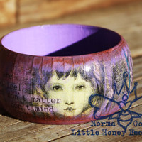 Dr. Seuss Quote Wooden Bangle