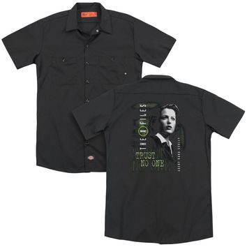 X Files - Scully(Back Print) Adult Work Shirt