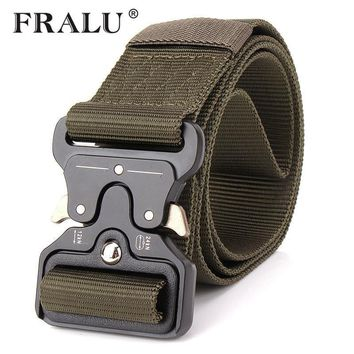 FRALU 2017 Hot Mens Tactical Belt Military Nylon Belt Outdoor multifunctional Training Belt High