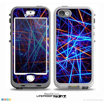 The Neon Glowing Strobe Lights Skin for the iPhone 5-5s NUUD LifeProof Case