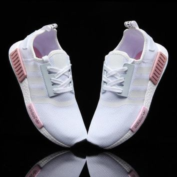 Adidas Nmd Fashion Sneakers Trending Running Sports Shoes Whtie Pink
