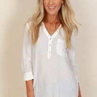 She's So Classic Blouse Off White
