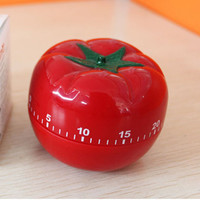 Kitchen Timer 1-60min 360 Degree Fashion Cute Indoor Tomato Mechanical Countdown Timer for Kitchen, School, Medicine