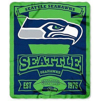 Northwest NFL Marquee Logo Lightweight Fleece Seattle Seahawks Blanket