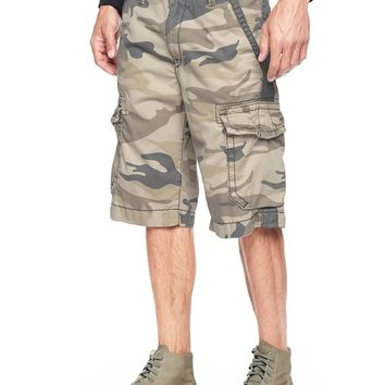True Religion Camo Trooper Isaac Mens Cargo Short - Khaki