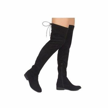 Qupid Almond Toe Over the Knee Boots