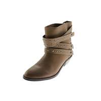 Joe's Womens Sam Leather Studded Ankle Boots