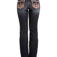 Rock & Roll Cowgirl Women's Feather Pocket Jeans - Boot Cut