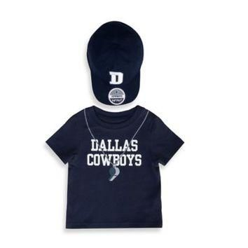 NFL 2-Piece Dallas Cowboys Short-Sleeved Jersey Tee with Hat