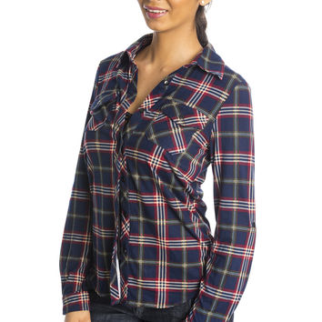 Softest Flannel Ever - Navy ed