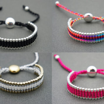 Forever Friends - Link Friendship Bracelet - Choose 2 Colors  - New Colors  (One Direction) - Valentine's Day Special
