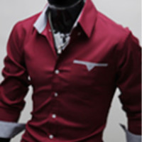 Mens Stylish Inner Grayed Dress Shirt