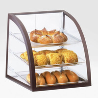 16W x 16.5D x 16.5H Iron Display Case Brown
