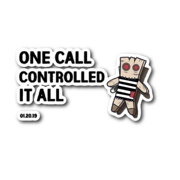 One Call Controlled It All New Orleans Saints Sticker