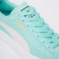 Puma | Puma Mint Green Suede Basket Sneakers at ASOS
