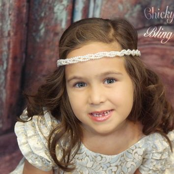 Wedding Pearl Braid Headband