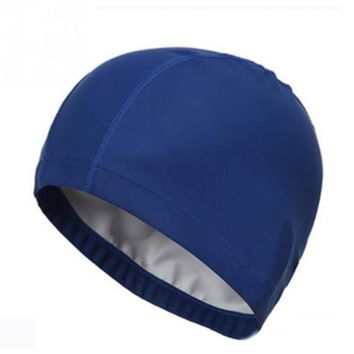 Swimming Hats PU Coating Caps Adults Swim Waterproof Protect Ears Swimcap Long Hair Swim Hat Swimming Cap Free Size