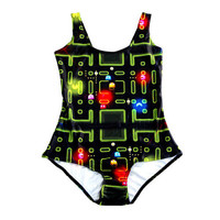 Pac Man One-Piece Swimsuit - Cool Bathing Suit Alternative Measures
