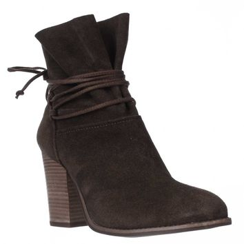 Jessica Simpson Satu Ankle Tie Slouch Ankle Boots, Moss Brown, 8.5 US / 38.5 EU