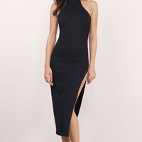 Mirror Mirror Slit Midi Dress
