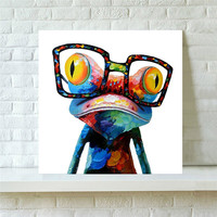 Canvas Frog  50*50cm