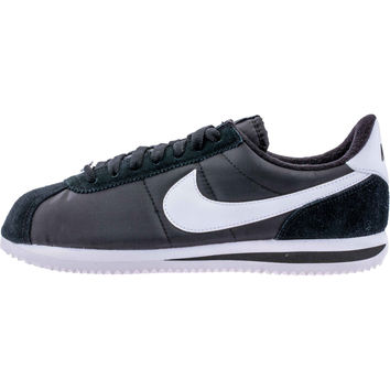 Nike Cortez Basic Nylon (Mens) - Black/White/Metallic Silver