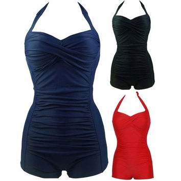 Hot One Piece Bathing Suit Women Ruffles Sweetheart Beachwear Push up Swimsuit  Plus Size Swimwear Monokini M-3XL [9305693383]