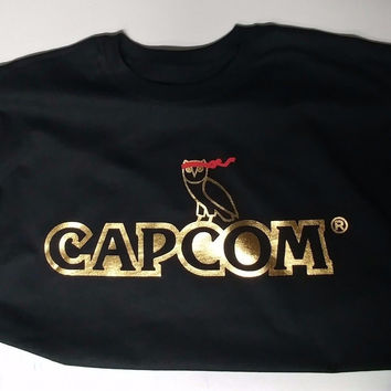 Capcom Street Fighter Drake vs Lil Wayne Hip Hop T Shirt Metallic