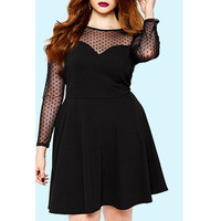 Long Sleeve Black Plus Size Plus Size Dress Sale LAVELIQ