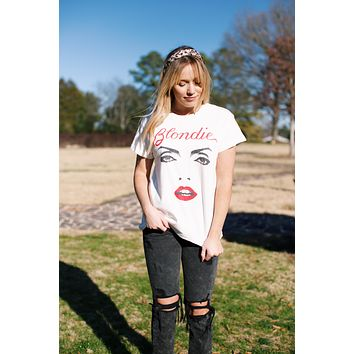 Blondie For Your Eyes Only Tour Tee, Vintage White | DayDreamer