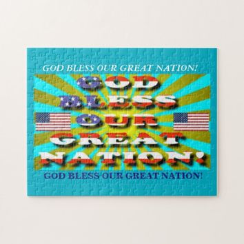 God Bless Our Great Nation! Jigsaw Puzzle