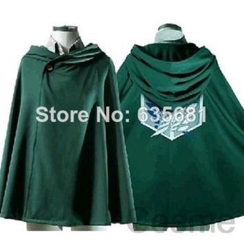 Cool Attack on Titan   Cos no   Cosplay Costume Cotton Breen Cloak Hot Sale Japanese Anime Thin AT_90_11